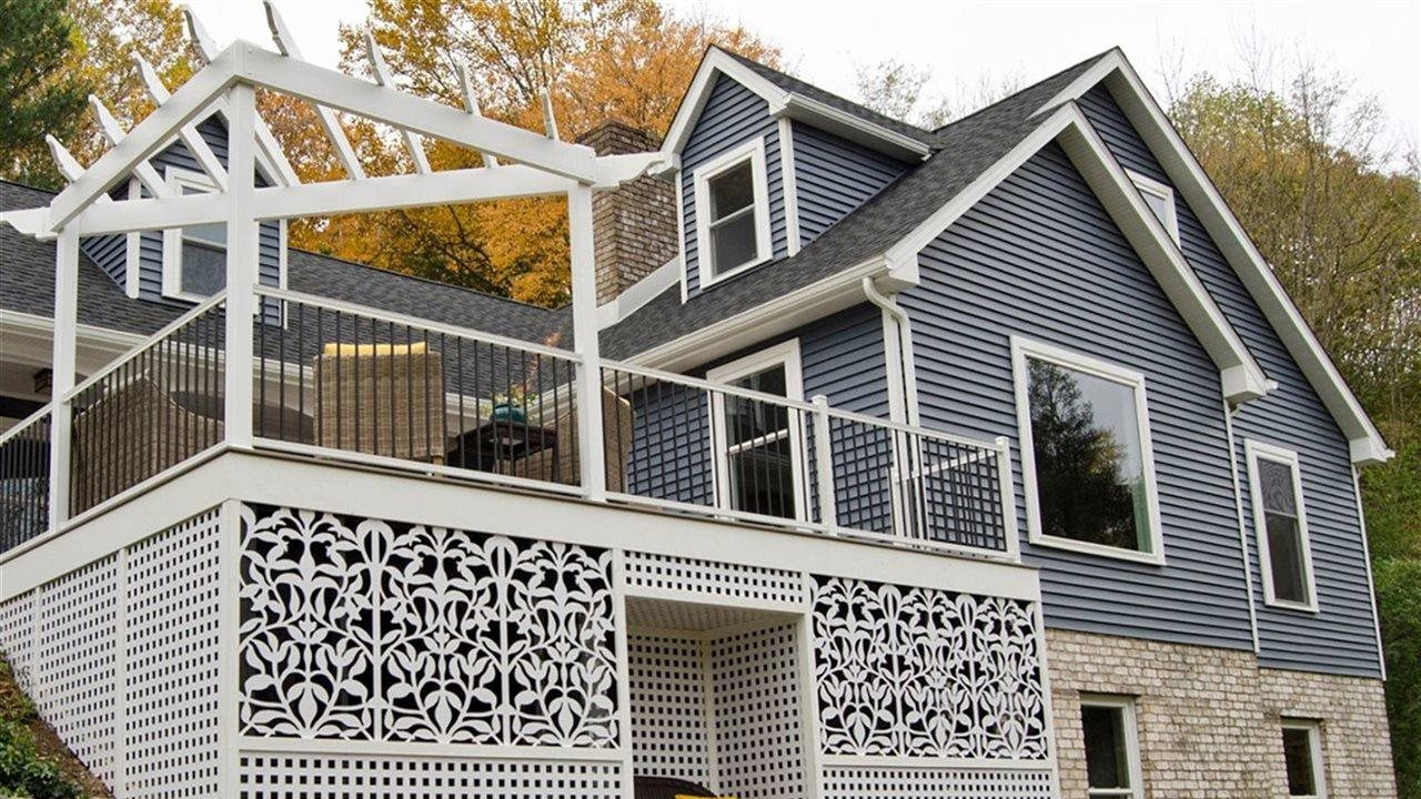 chic lattice used under a deck