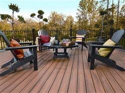 Trex decking with furniture and railing