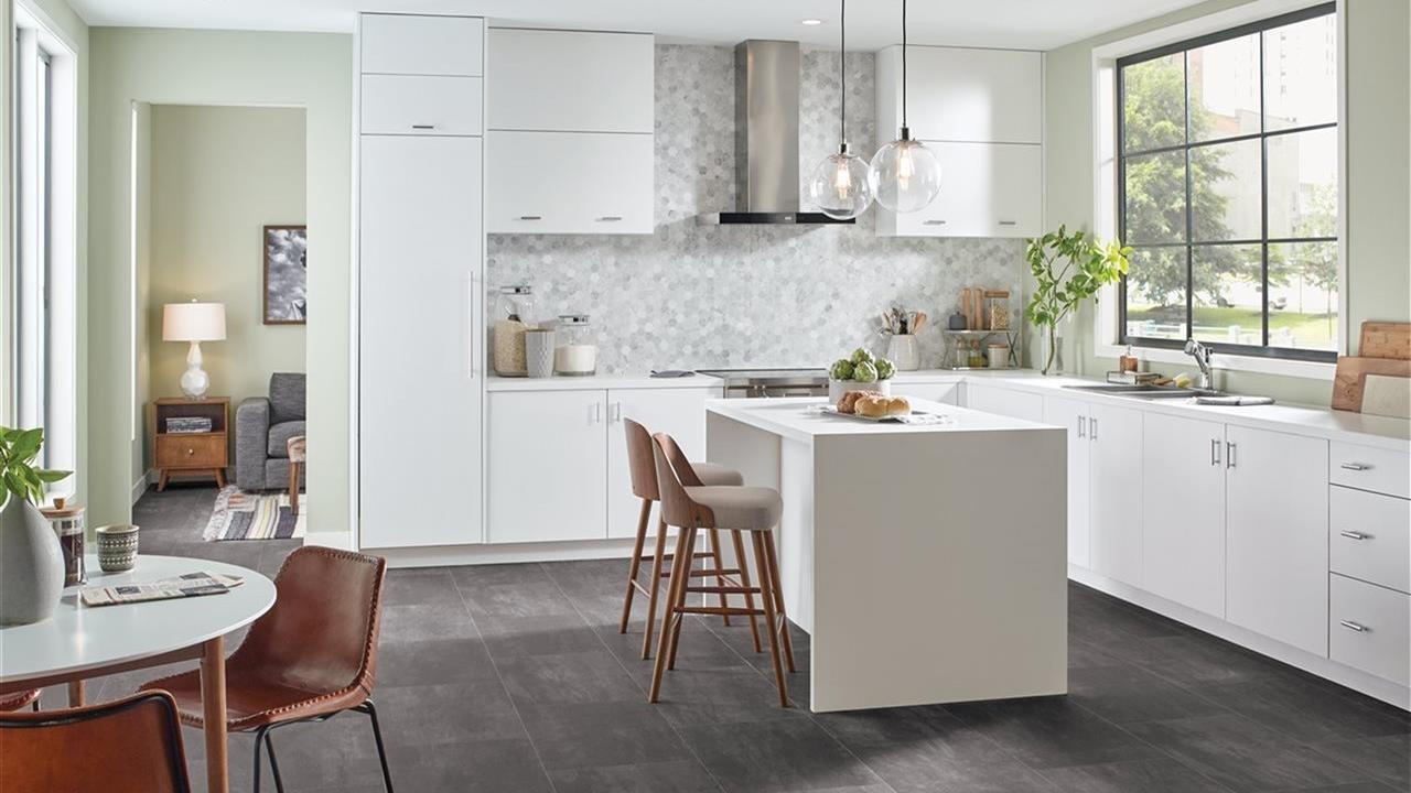 beautiful flooring in kitchen