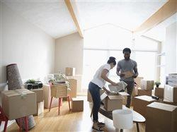 couple moving into and new place