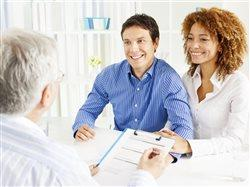 young couple applying for a home loan