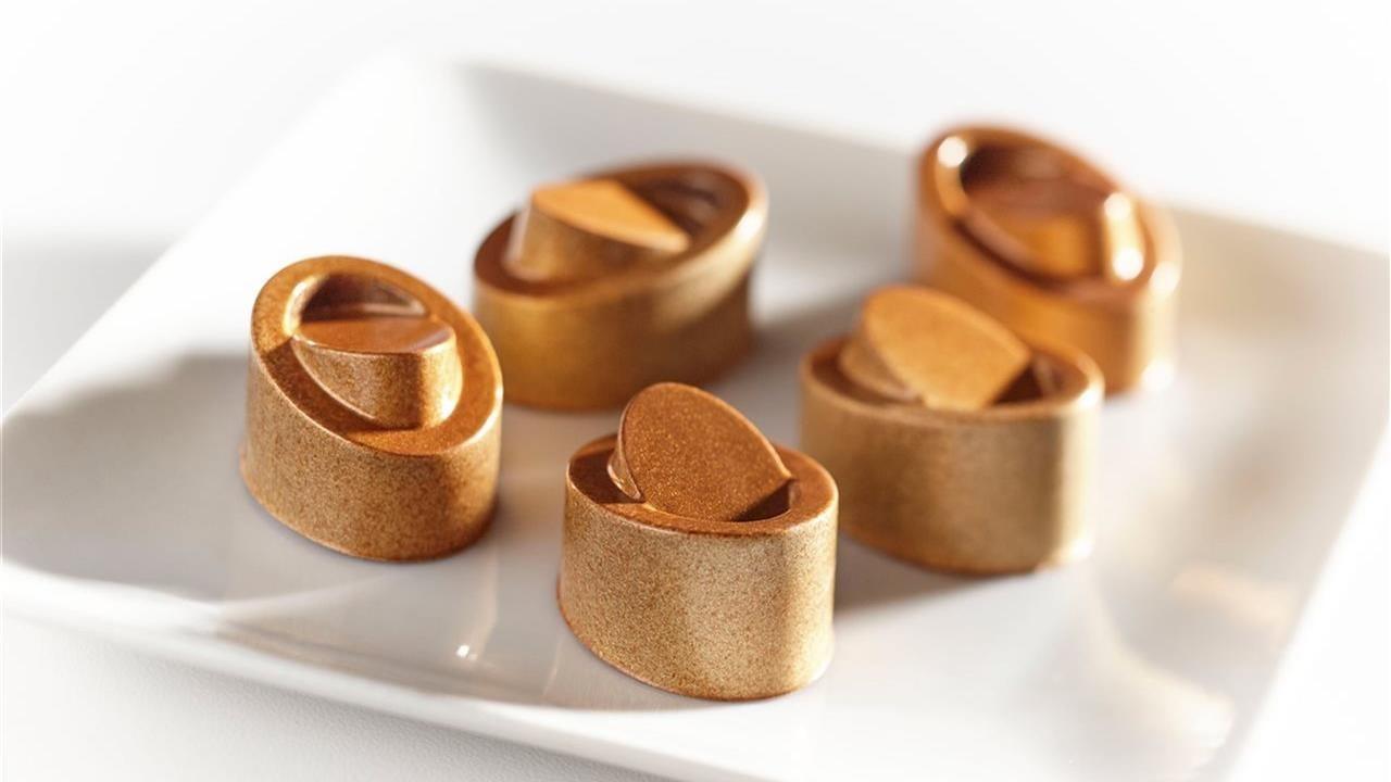 chocolates on a plate