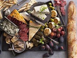 Saputo Mixed Cheese Board on Grey Metal