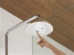 rain shower head in shower