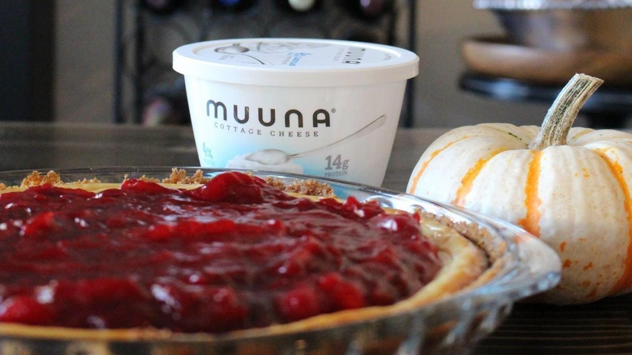 Muuna's Cranberry Cottage Cheesecake