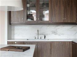solid walnut cabinets int modern kitchen
