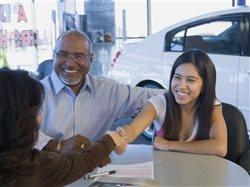 parent buying a car for a teen