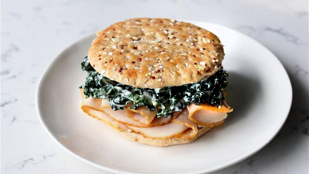 Turkey and kale sandwich