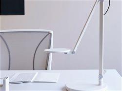 Humanscale Nova White lamp on white desk in white office